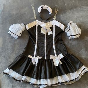 Sexy French Maid Costume with Petticoat